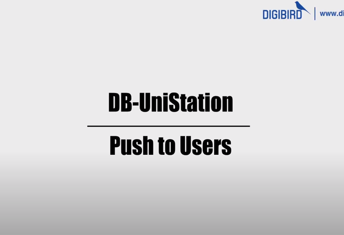 DB-UniStaion Feature Demo_Push to Users