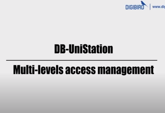 DB-UniStaion Feature Demo_Multi Level Access Management